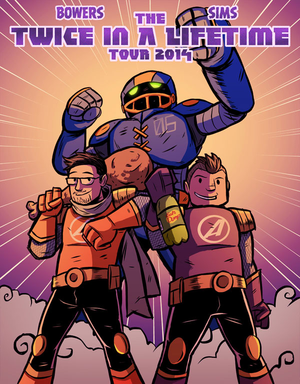 Action Age Comics Twice in a LIfetime Tour 2014 by Joe Hunter
