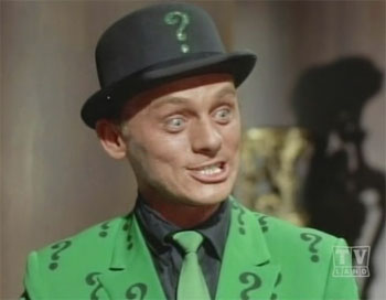 It all comes down to Frank Gorshin, who just played the hell out of the role ...