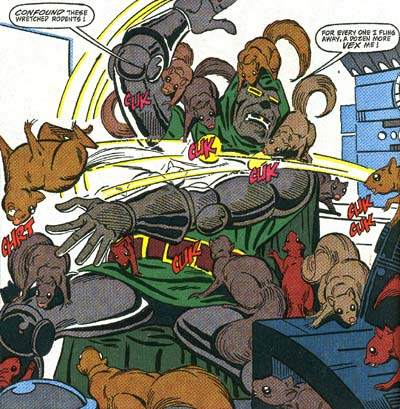 Squirrel Girl wasting Dr. Doom